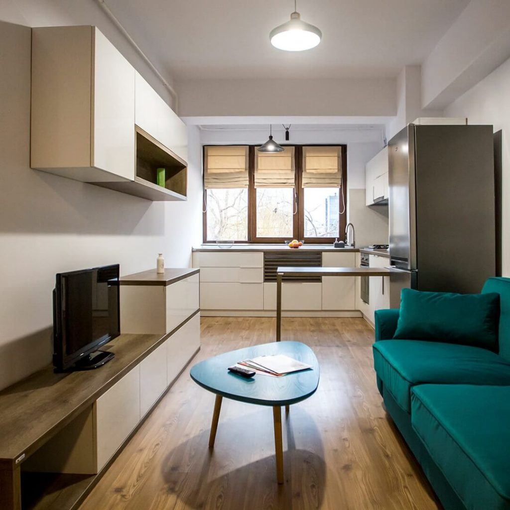 Open space living-bucatarie