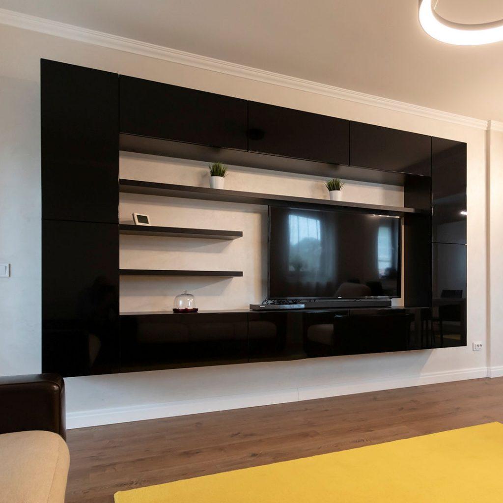 Mobila living-room MDF negru