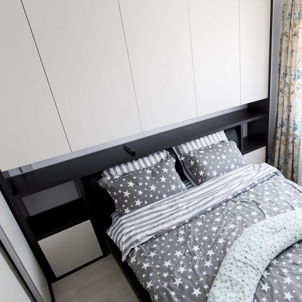 Mobila dormitor Alb Portelanat